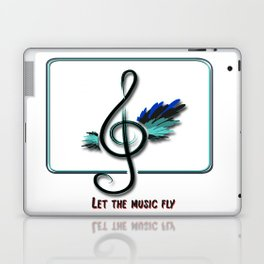 Let the music fly Laptop & iPad Skin