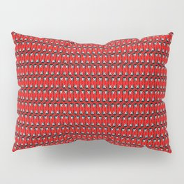 Guitars (Tiny Repeating Pattern on Red) Pillow Sham