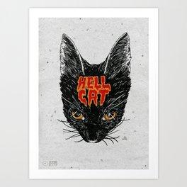 Hell Cat Art Print