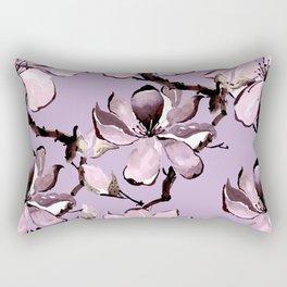 Watercolor Cherry Flowers VII Rectangular Pillow