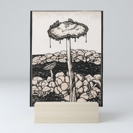 Dripping mushroom (1916) by Julie de Graag (1877-1924) Mini Art Print