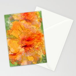 Golden Marigold Watercolor Stationery Cards