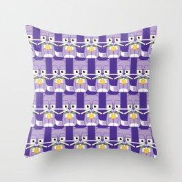 Super cute animals - Cute Kitty Cat Purple Throw Pillow