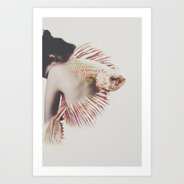 Fish Tales by Omerika Art Print
