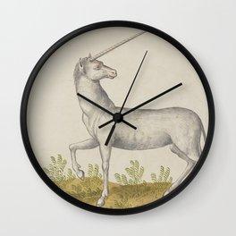 White Unicorn Dream Wall Clock