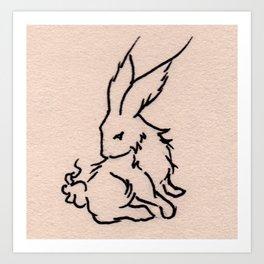 teh Bunni Art Print