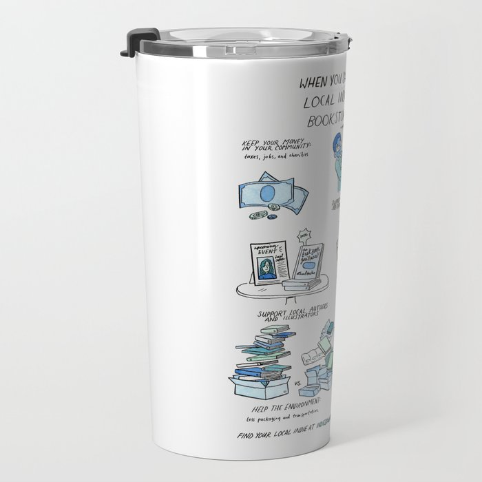 Support Your Independent Bookstore Travel Mug