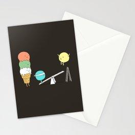 Acrobatic ice cream Stationery Cards