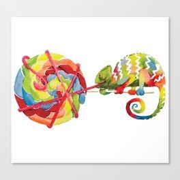 Candy Chameleon Canvas Print