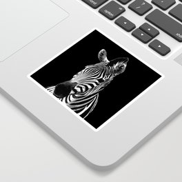 Zebra Black Sticker