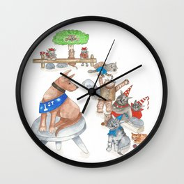 Every Dog may have its day ...but a Cat has Nine Lives Wall Clock