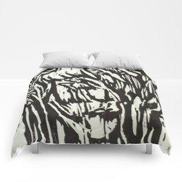 Tree Woman- Woodcut Comforters