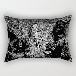 Helsinki Black Map Rectangular Pillow