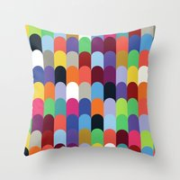 onward Throw Pillows featuring Onward Series: Soirée by Designer Ham