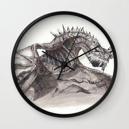 Paarthurnax from Skyrim ; Skyrim Dragon ; Fantasy Art Wall Clock
