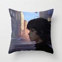 wind Throw Pillows featuring Wind by Ilya Kuvshinov