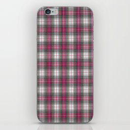 brooklyn red & white - holiday and everyday classic red white plaid check tartan iPhone Skin
