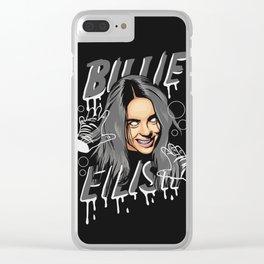 Billie Eilish (Color) Clear iPhone Case