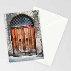Old wood door Stationery Cards