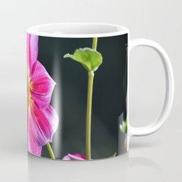 Bee on a Pink Dahlia Coffee Mug