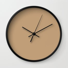 Plain Skin Tone Medium Olive 6 Solid Color Block Wall Clock