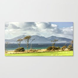 Isle of Arran from Portencross Ayrshire (2) Canvas Print