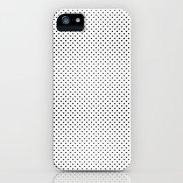 MIni Black Polka Dot Hearts on White iPhone Case