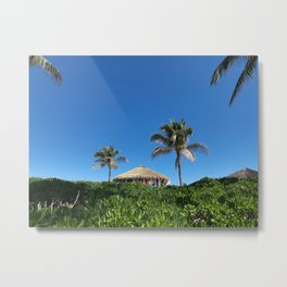 Bahamian Tropical Tiki Hut Metal Print