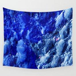 Abstración Océanica Azul Wall Tapestry