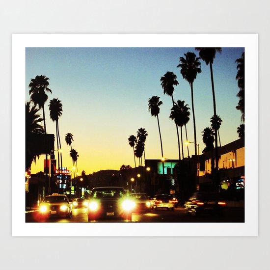 Beverly Hills Boulevard Art Print