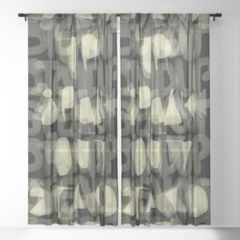 STAND UP SPEAK OUT Sheer Curtain