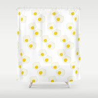 breakfast Shower Curtains featuring Breakfast by In Sight