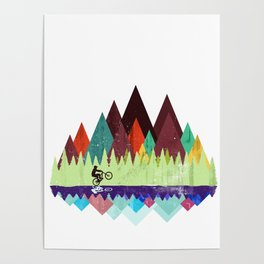 MTB retro Trails Poster
