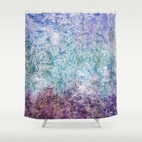 fireflies Shower Curtains featuring Fireflies by Nancy Smith