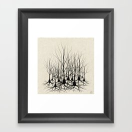 Pyramidal Neuron Forest Framed Art Print