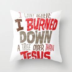 Older Than Jesus Throw Pillow