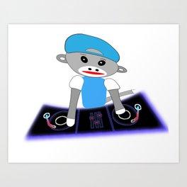 Dj Monkey Art Print