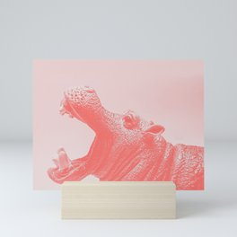 Living Coral Hippo Mini Art Print