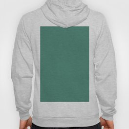 Viridian Green Solid Color Hoody
