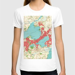 Vintage Map of Madison Wisconsin (1959) T-shirt