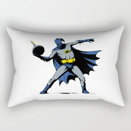 Bat Throwing Bomb Rectangular Pillow