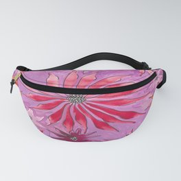 Red and pink florals Fanny Pack