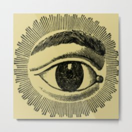 Secret Society Eye Metal Print