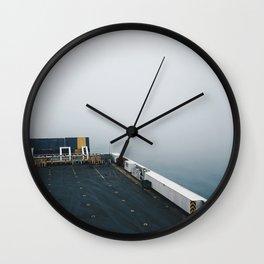 into the ocean Wall Clock