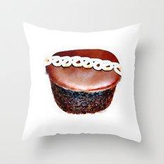 Hostess Chocolate CupCake Watercolour Throw Pillow