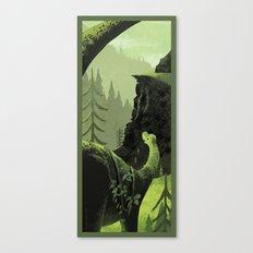 Dinosaur Roaming Canvas Print