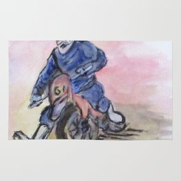 Dirt Bike Racer Rug
