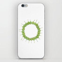 Green Wildflower Circle iPhone Skin
