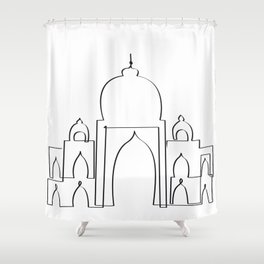 Taj Mahal in one drawn Shower Curtain