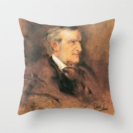 Richard Wagner (1813 – 1883) by Franz von Lenbach (1836 - 1904) Throw Pillow